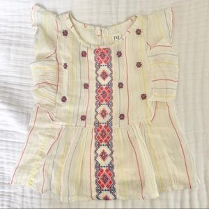 Gap Girls Embroidered Top